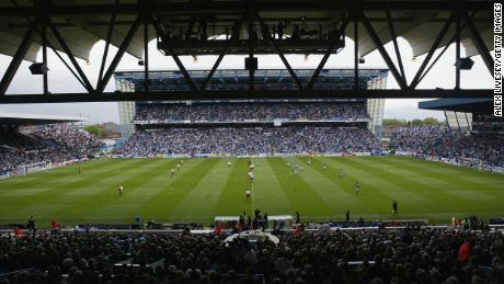 Maine Road hosts it's last league game as Manchester City face Southampton in the Premiership on May 11, 2003.