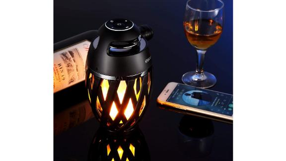 Dikaou LED Flame Torch Atmosphere Outdoor Bluetooth Speaker