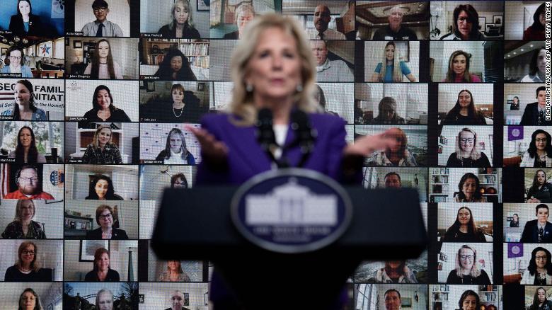 Jill Biden punches the clock