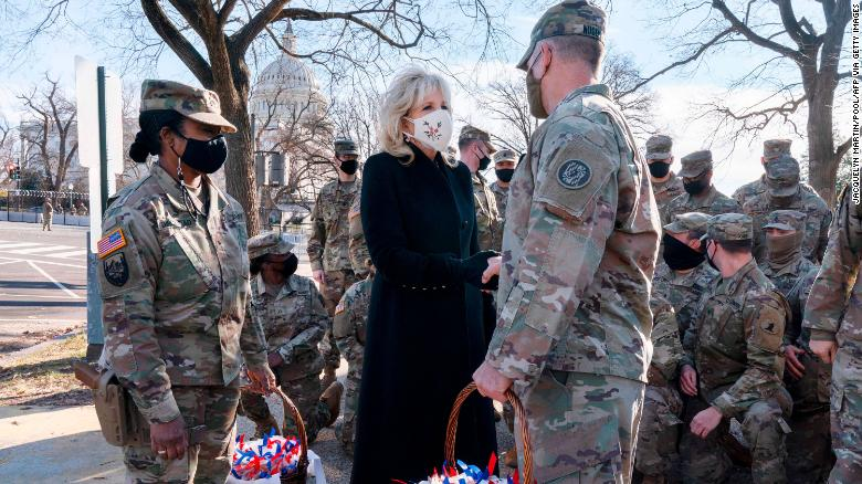 President and first lady thank National Guard after troops leave US Capitol