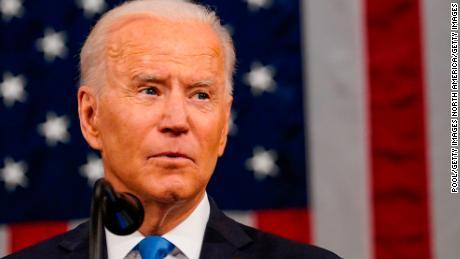 What grade did Biden get on his speech to Congress