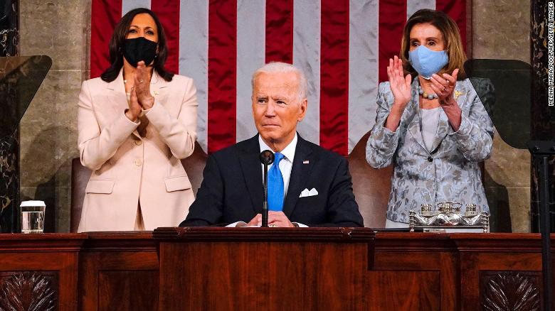 Here's how long Biden spoke on different issues in the joint address