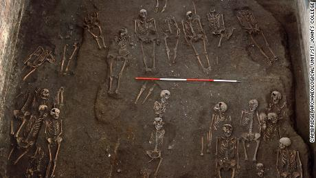 The remains of numerous individuals were unearthed on the site of the former Hospital of St. John the Evangelist in the city of Cambridge, UK. Skeletal remains were investigated as part of the study.