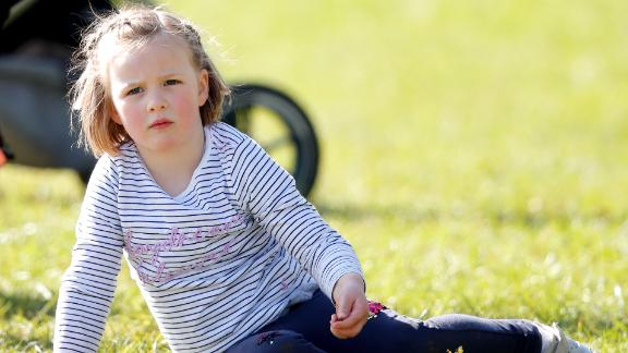Mia Tindall attends the Gatcombe Horse Trials in March 2019.