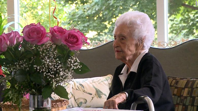 She just became the oldest living person in the US and all she wants is to be able to eat meals with her friend again