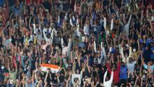 The crowd during the first T20 international match between India and England at Sardar Patel Stadium on March 12, 2021 in Ahmedabad, India.