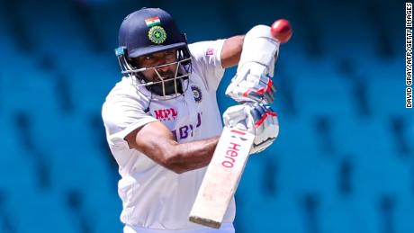 Ashwin plays a shot on day five of the third test between Australia and India earlier this year.