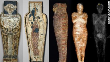 An inscription on the sarcophagus had suggested that the mummy was a priest named Hor-Djehuty