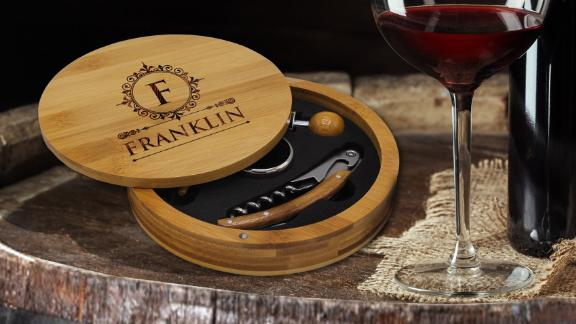The Wedding Party Store Engraved Wine Tool Set