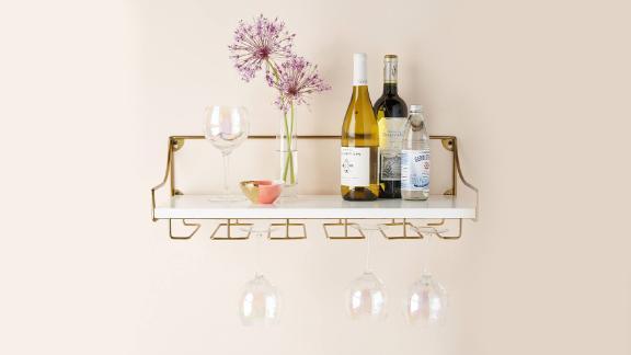 Anthropologie Mayfair Wall-Mounted Winie Glass Shelf