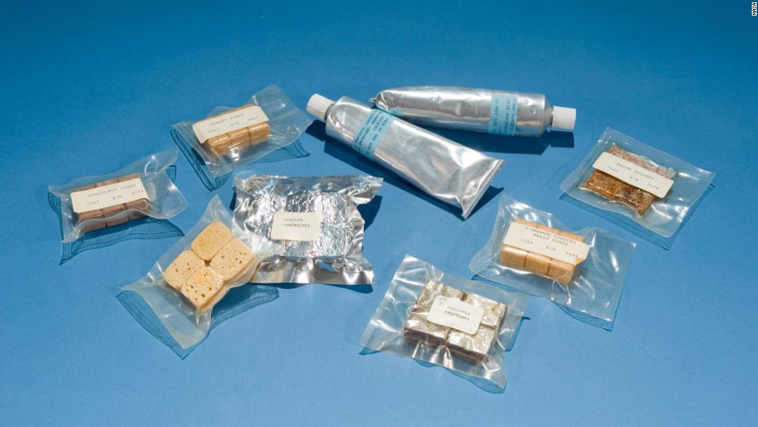During the Mercury program, astronauts' food often came in bite-size cubes or squeeze tubes. On the Gemini missions, tubes were out and improved packaging meant better food quality and options.