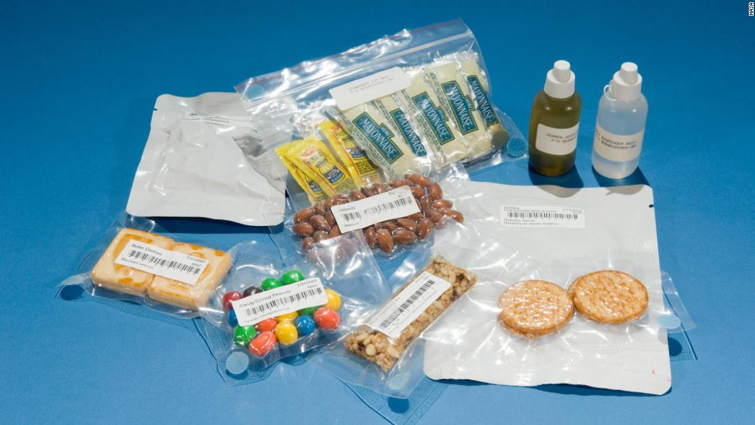 These days, food on the International Space Station includes condiments such as mayonnaise, mustard, chili sauce and wasabi -- all popular with astronauts trying to make up for the flavor deficit caused by zero gravity. The fare has come a long way since the early days of space travel.