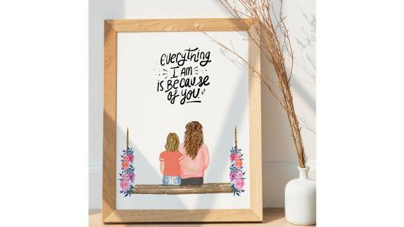 Mother and Daughter Custom Portrait