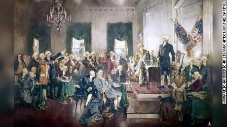 "Howard Chandler Christy, ""Scene at the Signing of the Constitution of the United States,"" 1940"