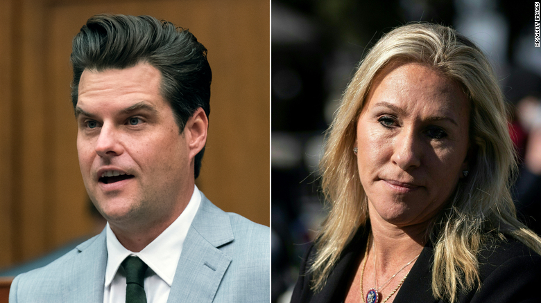 A partnership made in the MAGAverse: Matt Gaetz and Marjorie Taylor Greene team up to battle political opposition