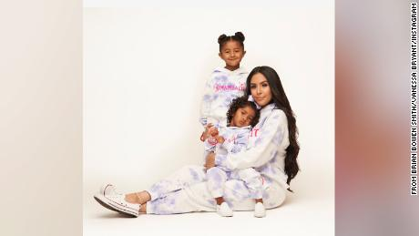 Vanessa Bryant and her daughters wear items from the new Mambacita clothing line on Instagram.