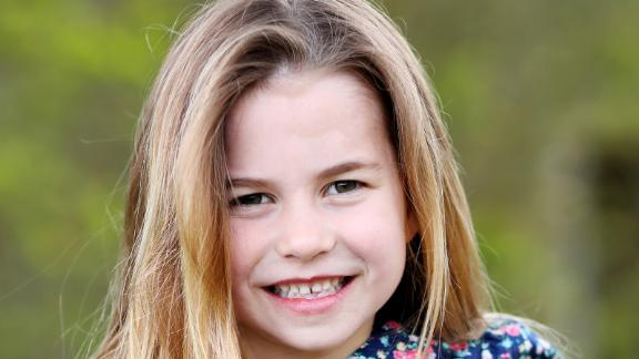 Princess Charlotte, William and Catherine's middle child and only daughter, is seen in this handout photo released on May 1, 2021, a day before her sixth birthday. She's fourth in line to the throne, behind her brother Prince George.