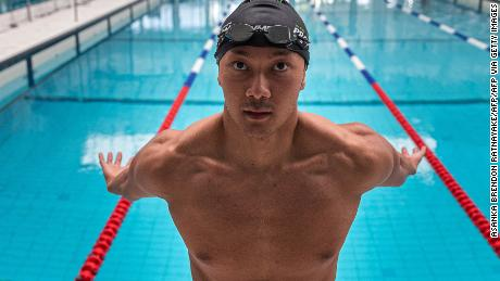 Win Htet swam collegiately at New York University. This photo was taken on April 29, 2021 at the Melbourne Aquatic Centre.