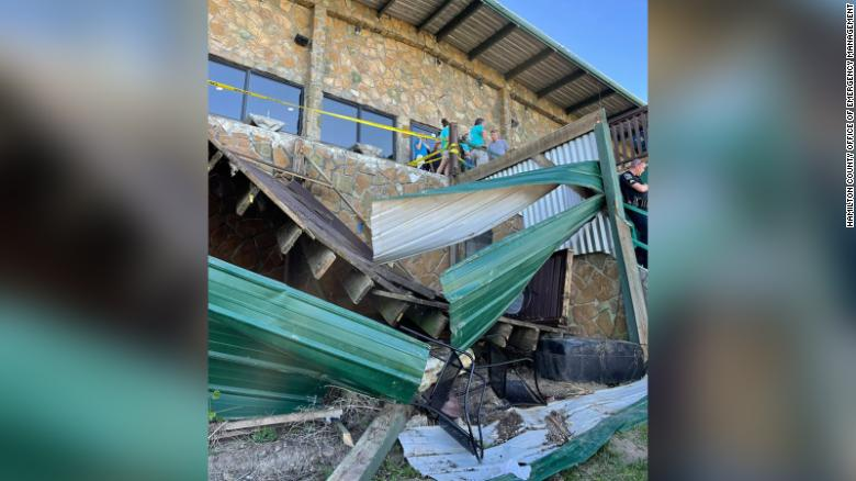 11 people were injured in a restaurant deck collapse in Tennessee