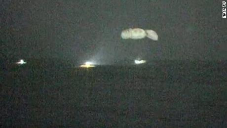 The SpaceX Crew Dragon capsule splashed down in the Gulf of Mexico shortly before 3 am ET Sunday