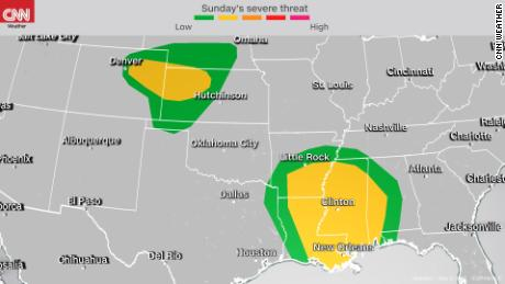 2 storm systems pose severe weather threat over multiple days