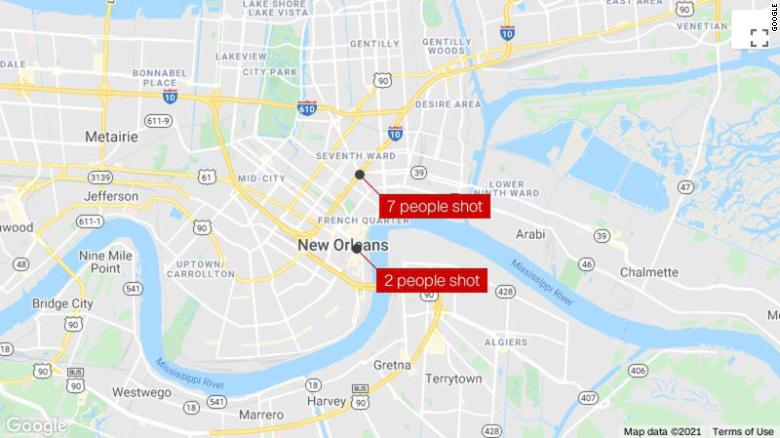 9 people were shot in 2 New Orleans shootings overnight. At least 1 person has died