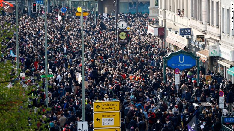 Organizers claimed that more than 20,000 people took part in the protests.