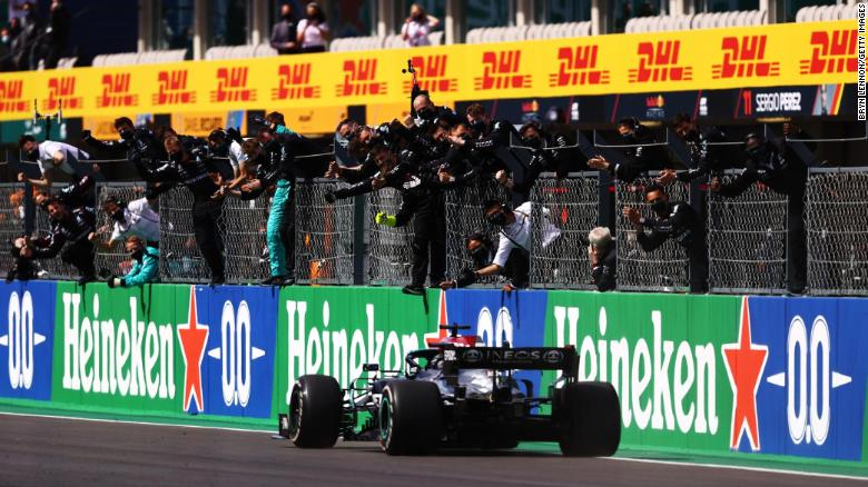 Lewis Hamilton wins Portuguese Grand Prix to secure 97th career race victory
