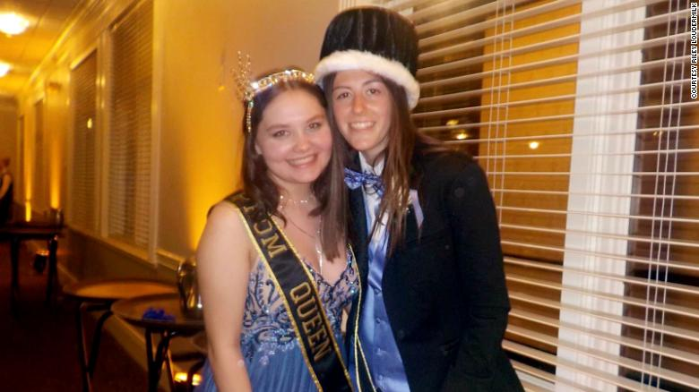 A lesbian couple was shocked to learn they won prom king and queen