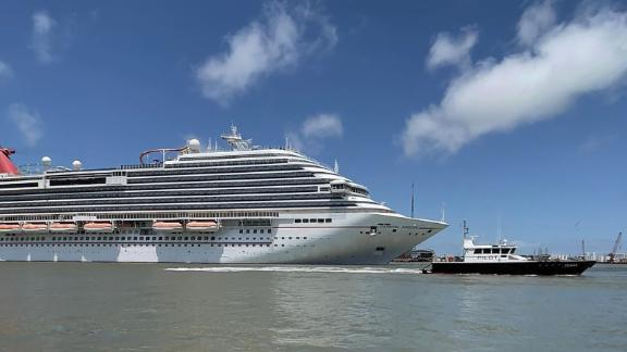 Carnival Breeze in Galveston, Texas, on May 2, 2021.