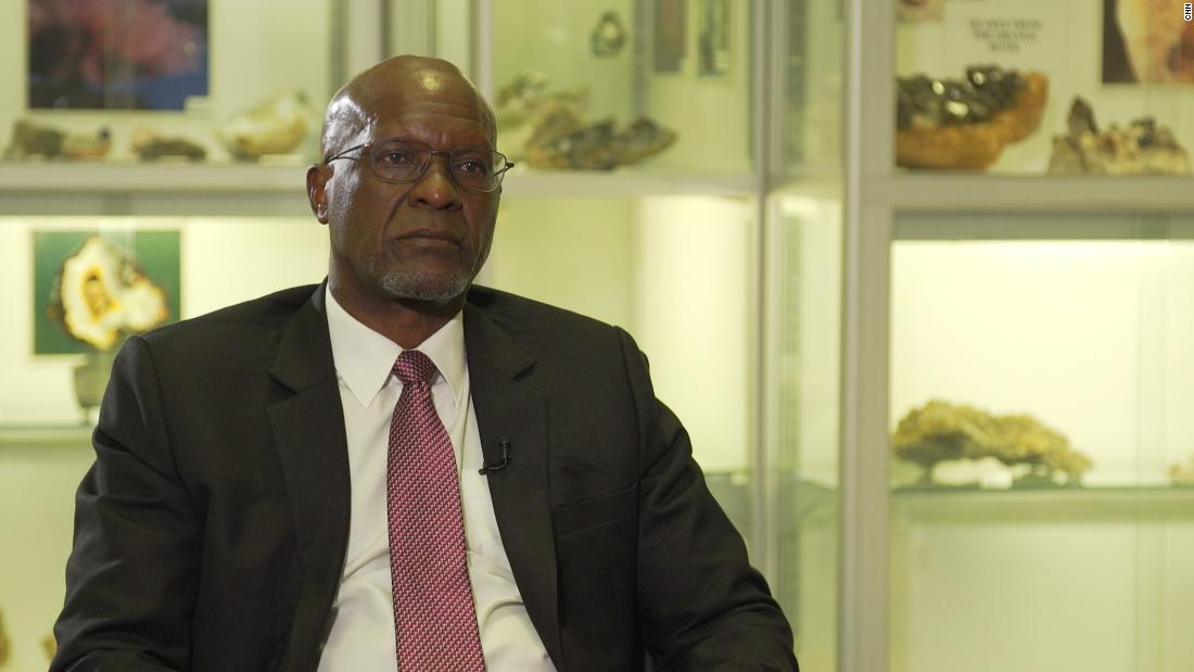 Tom Alweendo, Namibia's Minister of Mining and Energy.