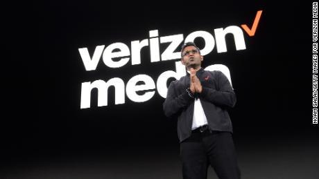 Verizon Media CEO Guru Gowrappan appears at a 2019 event.