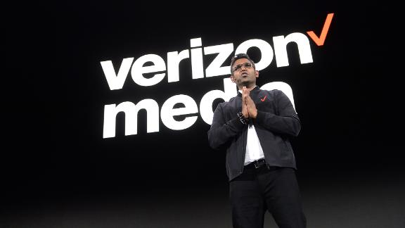 CEO at Verizon Media K. Guru Gowrappan appears at the 2019 Verizon Media NewFront on April 30, 2019 in New York City.