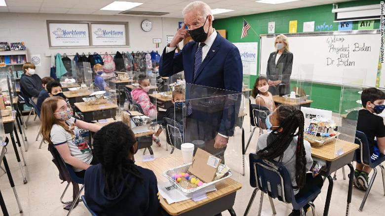 Biden touts education funding in infrastructure proposal in visit to Virginia schools
