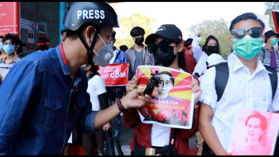 screengrab myanmar journalist