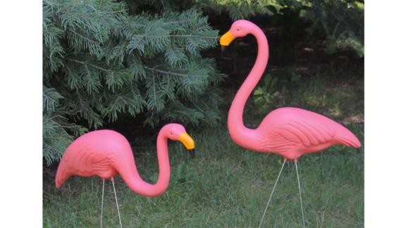 Northlight Flamingo Garden Lawn Stakes