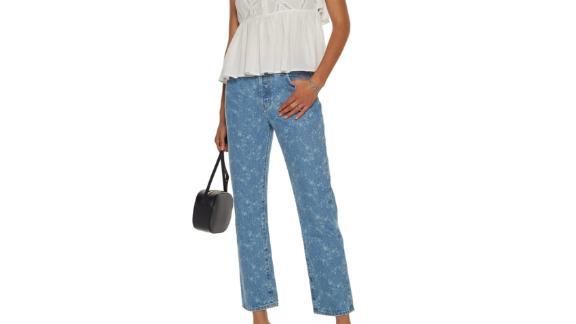 Current/Elliott Floral Print Jeans
