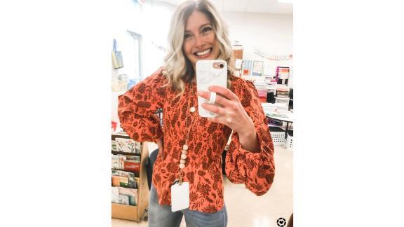 Universal Thread Women's Puff 3/4 Sleeve Smocked Blouse
