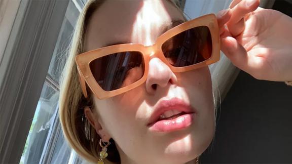 Wren Angular Rectangle Sunglasses