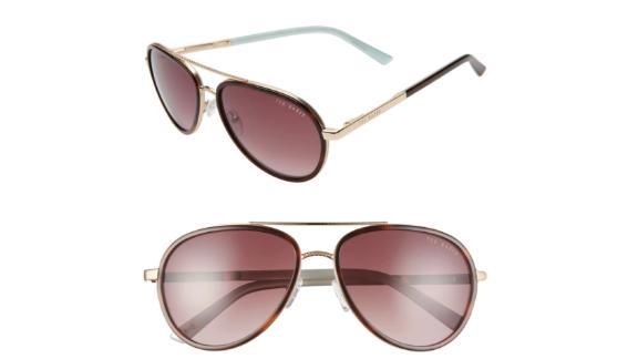 Ted Baker London 58-Millimeter Aviator Sunglasses
