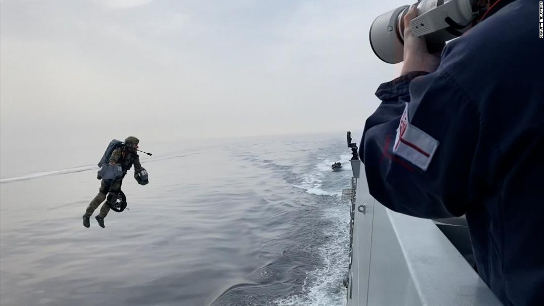 Watch these UK commandos fly over the sea with new jet pack