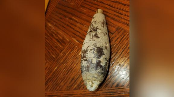 Pamela Coffey took this image of the found object in her yard.