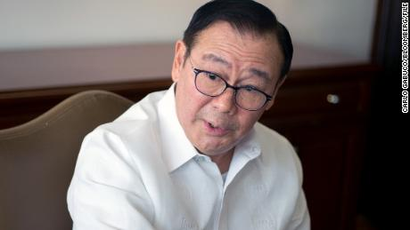 Teodoro Locsin, Philippine secretary of foreign affairs, speaks during an interview in Manila, Philippines, in 2019.