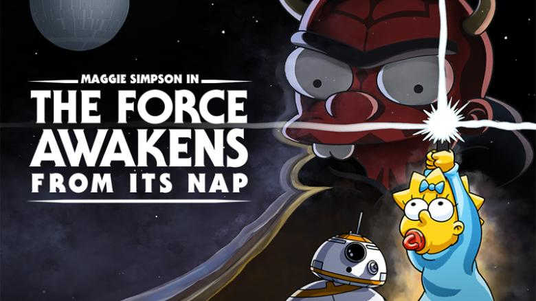 """Maggie Simpson in """"The Force Awakens from its Nap."""""""
