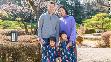 Yuki Kondo-Shah and her family in Japan. Kondo-Shah, a US diplomat, successfully appealed an assignment restriction that barred her from serving in Japan.