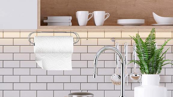 Caxxa Adhesive Under-Cabinet Paper Towel Holder