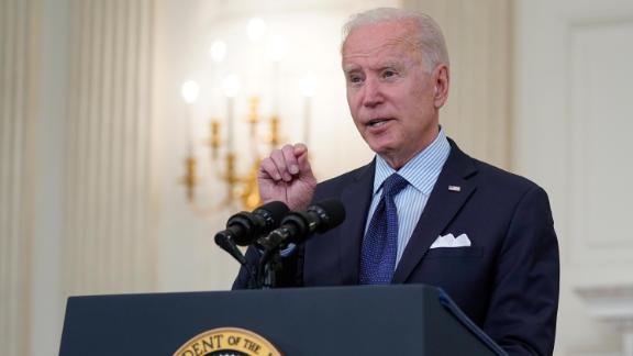 President Joe Biden speaks about the COVID-19 vaccination program, in the State Dining Room of the White House, Tuesday, May 4, 2021, in Washington.