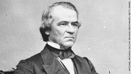 Portrait of Johnson, the 17th president of the United States.