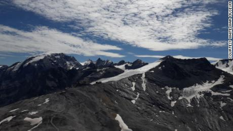 The view of the Stelvio glacier from Mount Scorluzzo.