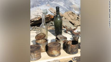 A variety of items were found, including bottles and tins.